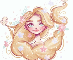 art and rapunzel image