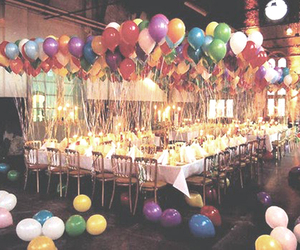 balloons, party, and birthday image