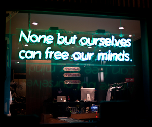 lights, neon, and quote image