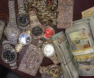 money, goals, and watch image