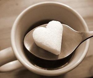 heart, sugar, and coffee image