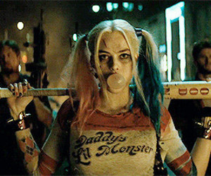 suicide squad, harley quinn, and gif image