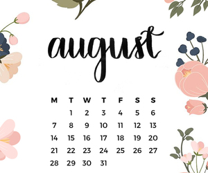 aesthetic, August, and calender image