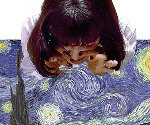 pulp fiction, art, and van gogh image