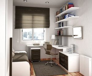 study, bedroom, and home office image
