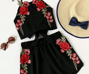 black, rose, and two image