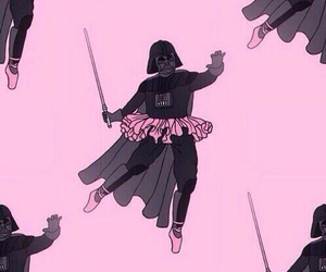 pink, star wars, and darth vader image