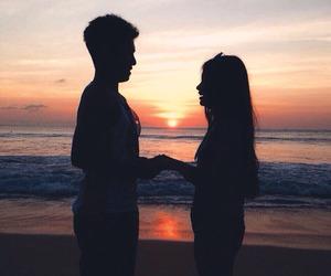 beach, boy, and romantically image