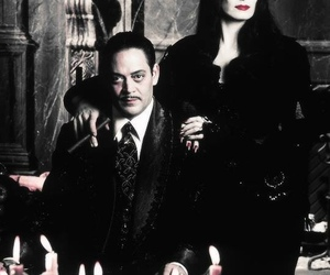 Morticia Addams, the addams family, and gomez addams image