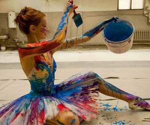 art, colorfull, and girl image