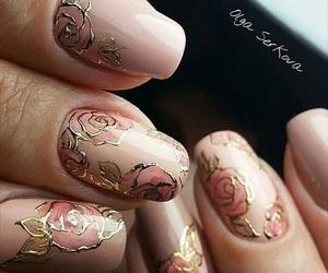 girl, nails, and pink image