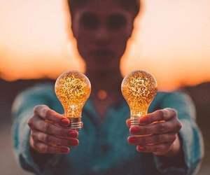beautiful, bulb, and girl image