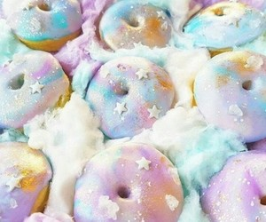 pastel, sweet, and donuts image