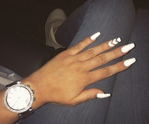 nails, watch, and hand image