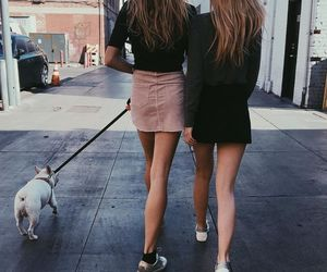 friends, girl, and dog image