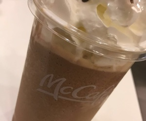 chocolate, McDonald's, and milkshake image
