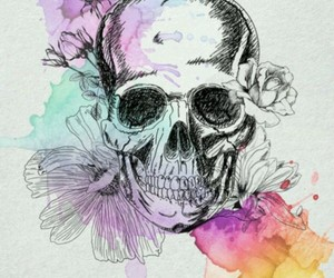 skull, art, and drawing image