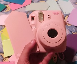 instax, pale pink, and pink image