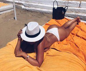 beach, sun, and tan image