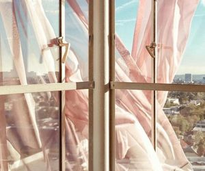 pink, window, and background image