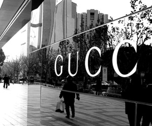 gucci, fashion, and black and white image