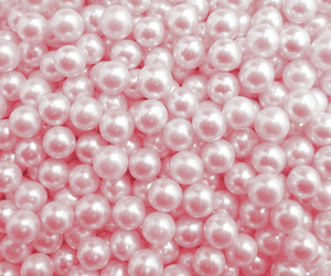 pearls, pink, and pastel image