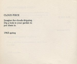 clouds, poem, and 1963 image