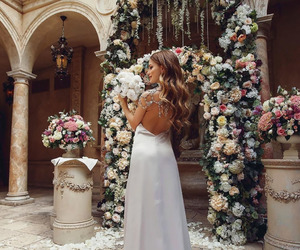 fashion, flowers, and wedding image