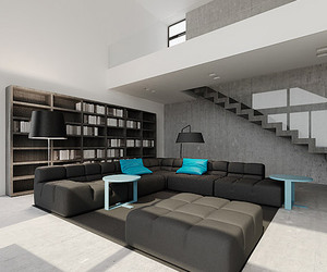 blue, design, and room image