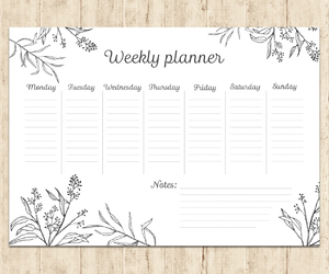 college, weekly planner, and back to school image