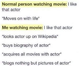 actor, crush, and fictional image