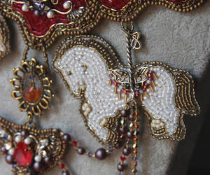carnival, carousel horse, and crystal necklace image