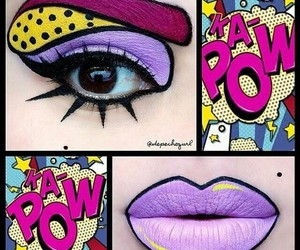 lips, makeup, and comic image