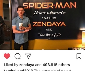 tom holland and spiderman homecoming image