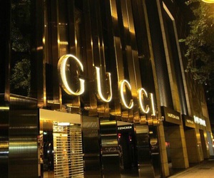 gucci, fashion, and gold image