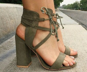 cut out, high heels, and shoes sandals image