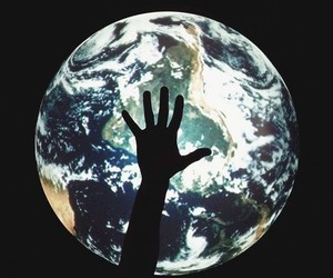 earth and hand image