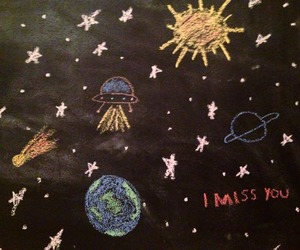 art, grunge, and i miss you image