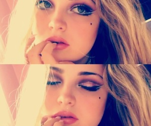 blonde, burlesque, and eyeliner image