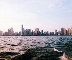 city, travel, and sea image