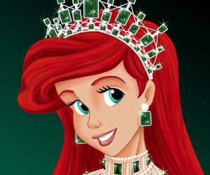 ariel, crown, and green image