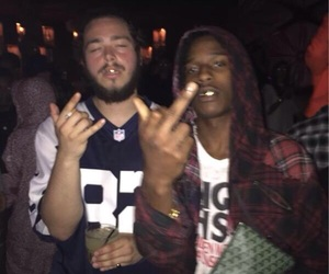 asap rocky and post malone image