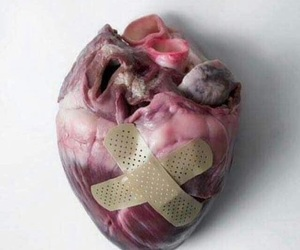 heart, art, and broken image