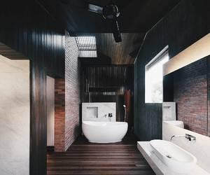 aesthetics, bathtub, and decor image