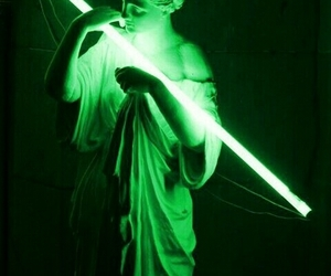 green and statue image