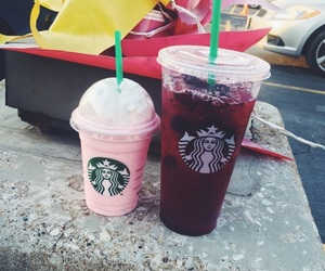 starbucks, cotton candy frapp, and very berry hibiscus image