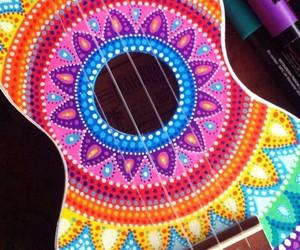 guitar, colorful, and mandala image