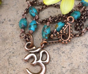 turquoise necklace, yoga jewelry, and healing jewelry image