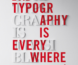 typography, red, and white image