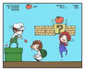 hetalia, mario, and italy image